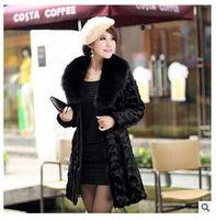 2016 Winter Women Plus Size Faux Fur Coat Fashion Long Jacke...