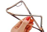 Pour l'iPhone 7 Note 7 Galaxy S7 Colorful TPU électrodéposition Case Soft Gel Silicone cas avec sac Opp Livraison gratuite