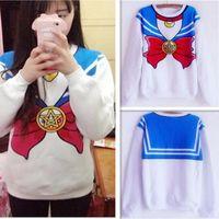 The new 2016 Sailor Moon shirt Harajuku kawaii cute fake imi...