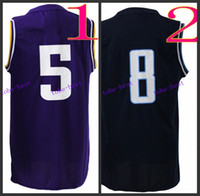 #5 #8 Black Multi 2015 Elite Football Jerseys, Best quality, A...