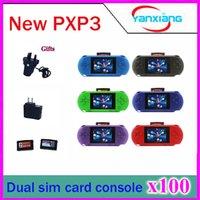 100pcs 16 bits joueur de jeux vidéo PXP3 mince station de poche Game Handheld Game Console + carte de jeu gratuit + boîte cadeau! ZY-PXP3