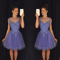 A Line Short Appliques Beaded Homecoming Cocktail Dress Part...