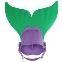 Comfortable Adjustable Kids Mermaid Swimming Training Flippe...