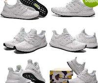 2016 Ultra Boost White Black Womens Men' s Athletic Shoe...