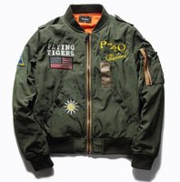 Mens MA1 air force Jacket US Army Flying Tiger Pilot Flight ...