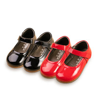 Classic Princess Dress Shoes Solid Red Black Genuine Leather...