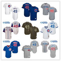 Chicago Cubs Jersey Mens 17 Kris Bryant 44 Rizzo 49 Jake Arr...