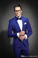 Newest Slim Fit Groom Tuxedos Royal Blue Best man Suit Notch...