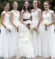 Cap Sleeve Bridesmaid dresses Long chiffon stunning ruffles ...