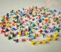144pcs Poke Figures Toys 2- 3cm Pikachu Charizard Eevee Bulba...