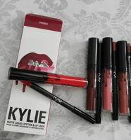 Newest Kylie Lip Gloss Lipstick Boxset 1 Lipstick + 1 Liplin...