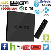 Android 5. 1 Mini MX Netflix Smart TV Box Amlogic S905 XBMC K...
