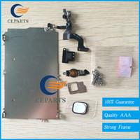 Pour l'iPhone 5G 5S 5C LCD Plein Petite Pièces Holding Back Metal Plate + devant face caméra + Full Set vis + écouteur + Home Flex Cable Assembly