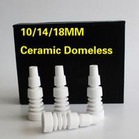 10/14 / 18MM céramique domeless clou mâle clou en céramique domeless commune pour bongs en verre plate-forme pétrolière tuyau d'eau livraison gratuite