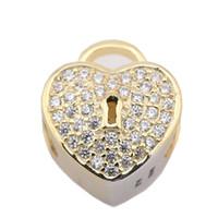 Gros or coeur creux charme 925 sterling argent européens charmes perles paillettes Pandora chaîne serpent chaîne de mode bijoux bricolage PX0035-1B