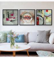 Исследование спальни современной гостиной Абстрактные серии простой стиль декора холст картина маслом высокого качества мастихином живопись JL406