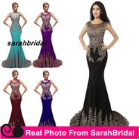 2016 Lycra Crepe Luxurious Rhinestone Mermaid Evening Dresse...