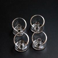 banger de quartz casquettes chapeau de carb banger clou de quartz pour l'huile de verre gréements dia 3CM quartz utilisé domeless banger clou