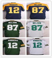 100% Stitched Green #87 NELSON #52 MATTHEWS #12 RODGERS Disc...