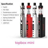 Kangertech Topbox Mini TC Starter Kit avec KBOX 75W Box Mod Top Top complet Toptank Mini atomiseurs VS subox mini