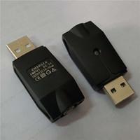 Ego chargeur sans fil 5V électronique Cigarettes alimentation USB Ecig chargeurs de batterie Adaptateur USB Noir Ligne Câble Pour Ego Evod 510 Batteries de la discussion