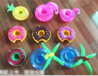 50pcs Lot Flamingo Inflatable Drink Botlle Holder Lovely Pin...