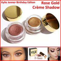 Дженнер день рождения Выпуск тени для век крем Косметика тени для век Kyshadow бровей голый макияж Долговечность медь + розовое золото