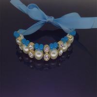 wholesales!handmade imitate pearl necklace for pets cat dog ...