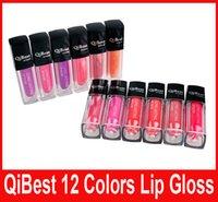QiBest Водонепроницаемый Помада Блеск для губ Long Lasting Lip Gloss QiBest макияж губы 12 цветов блески для губ антипригарным Кубок Помада Блеск для губ