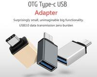 Métal USB 3.1 de type C OTG Adaptateur mâle vers USB 3.0 A Fonction femelle convertisseur adaptateur OTG pour Macbook Google Chromebook