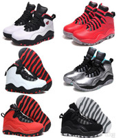 Cheap Top quality retro 10 men basketball shoes steel bobcat...