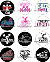 Free shipping CHEER MOM glass Snap button Jewelry Charm Popp...