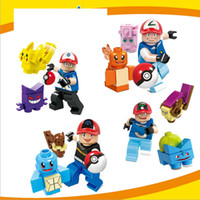 Poke go minifigures DIY Building Blocks 4 style children Pik...