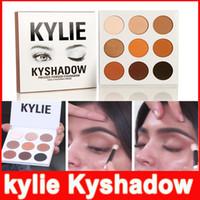Кайли тени для век пудра тени для век Палитра бронзовой палитры Kyshadow Kit Kylie макияж Косметические 9colors