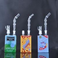 Nouvelle arrivée hitman Mini liquide de verre rigs Glass Cereal Boîte huile Dab Rig 14 mm avec dons et clous verre bong