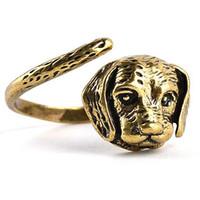 2016 Vintage Bronze plaqué Boho Chic Welsh Corgi Anneau de chien anglais animal Anneau de chien Hippie Brass Knuckles anneaux pour Wom ZJ-0903705