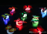 New 600pcs Free EMS Flashing Colorful Butterfly Night Light ...