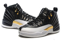 Best Quality Black and gold the Retro 12 Wings mens basketba...