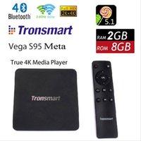 Оригинал Tronsmart Vega S95 Мета Android TV Box Amlogic S905 Quad Core 2.0GHz 2G / 8G 802.11a / б / г / п 2.4G / 5ГГц