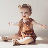 Ins Girl Baby Onesies Romper Bobysuit Overalls Children Infa...
