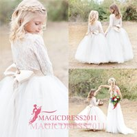 2016 Cute First Communion Dress For Girls Ivory Long Sleeve ...