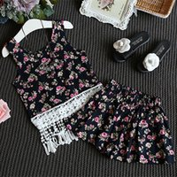 2016 New Summer Baby Girls Clothes Small floral short paragr...