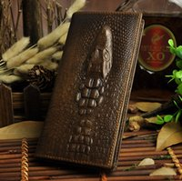 1314 Croco Leather Men Wallet Bi- Fold Long vertical horizon ...