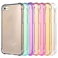 Caso de Smartphone del teléfono celular claro de la cubierta suave transparente a prueba de golpes de TPU protectora para el iPhone 4.7 7