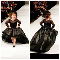 2016 Pageant платья для девочек Jewel с длинным рукавом девушки цветка платья для малышей Подростки Дети Новоселье День рождения партии Причастие Платья