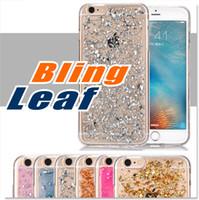 Fo Iphone 7 6 6s Case Soft Clear Cas Luxe Bling Sparkle Faceplate Feuille Design Semi-transparent Flexible Soft TPU Étui de protection
