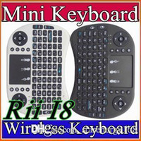 2016 Clavier sans fil claviers i8 RII Fly Air Mouse multimédia Télécommande Touchpad Handheld pour Android TV BOX Mini PC B-FS