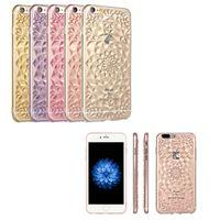 Для iPhone 7 6 6S Плюс прозрачный кожи творческий рельеф TPU для iphone 7 случая TPU подсолнечным Случай с ОПП пакет бесплатной доставкой