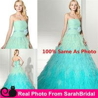 Dreamy Tutu Rhinestone Mint Colorful Quinceanera Dresses 201...