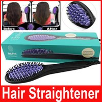 DAFNI Hair Straightener Brush Comb Hair Straightening flat I...
